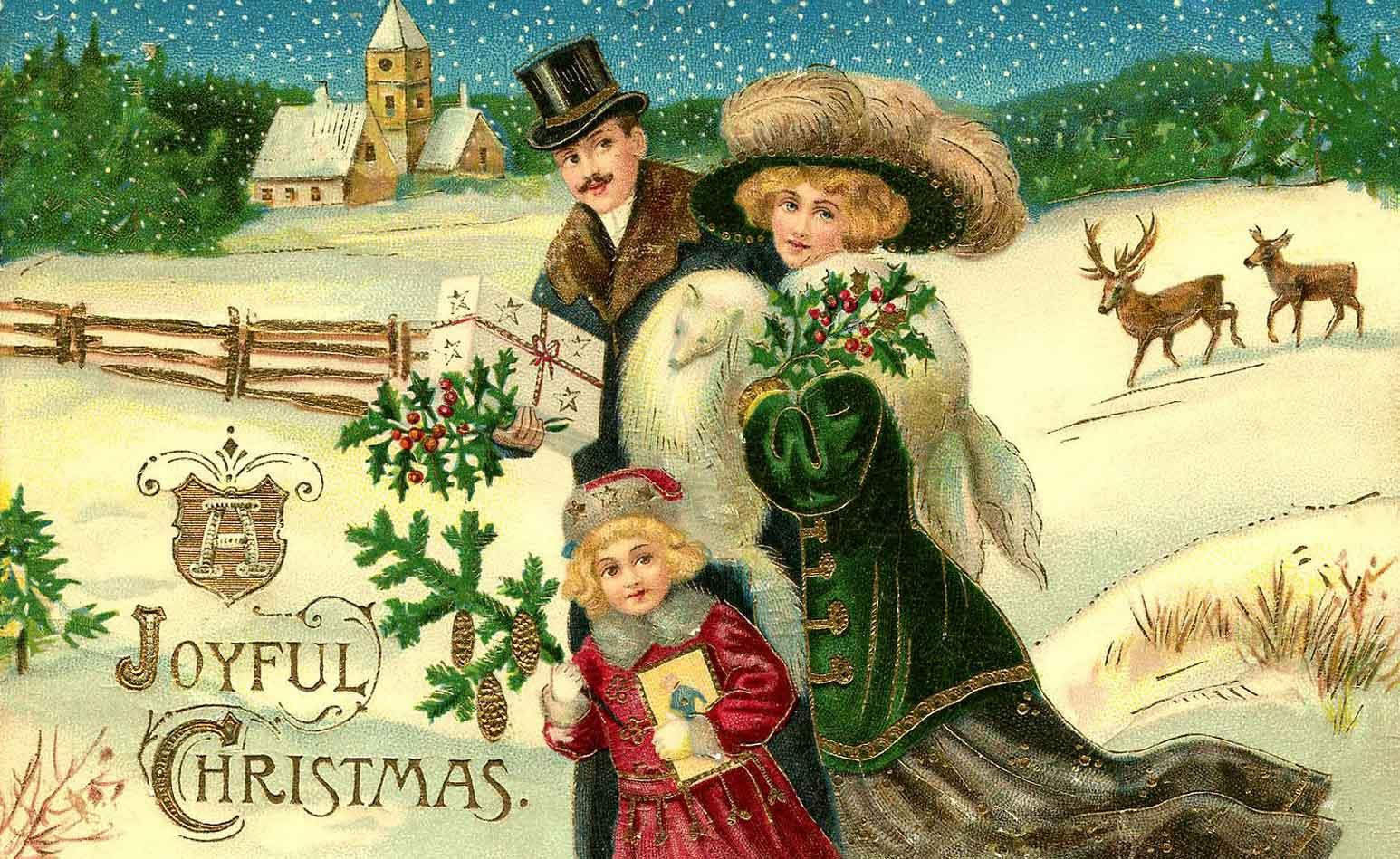 Immagini Vittoriane Natalizie.Cartoline Natalizie Breve Storia Di Una Lunga Tradizione